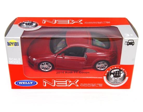 WELLY 1:34 Audi TT Coupe 2014 - czerwony