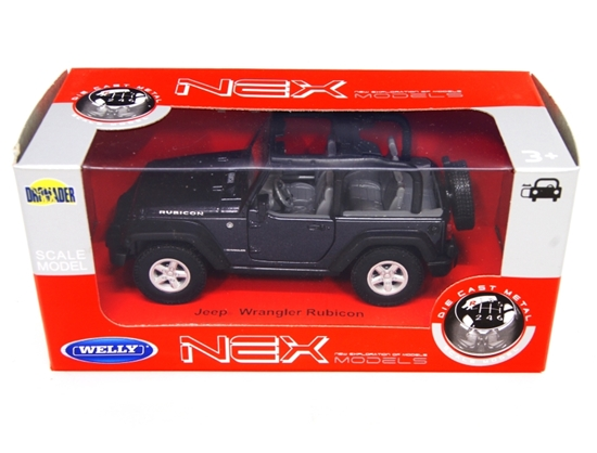 WELLY 1:34 Jeep Wrangler Rubicon cabrio - czarny
