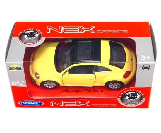 WELLY 1:34 Volkswagen THE BEETLE żółty