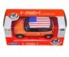 WELLY 1:34 Mini Cooper - USA pomarańczowy
