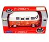 WELLY 1:34 VW BUS T1 1963 - LOVE & PEACE pomarańczowy