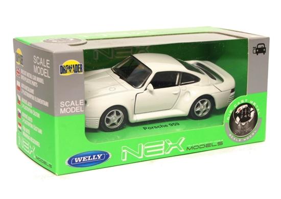 Welly 1:34 Porsche 959 - biały