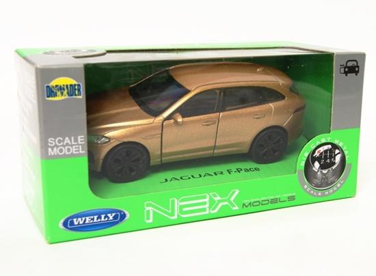 Welly 1:34 Jaguar F-Pace - złoty