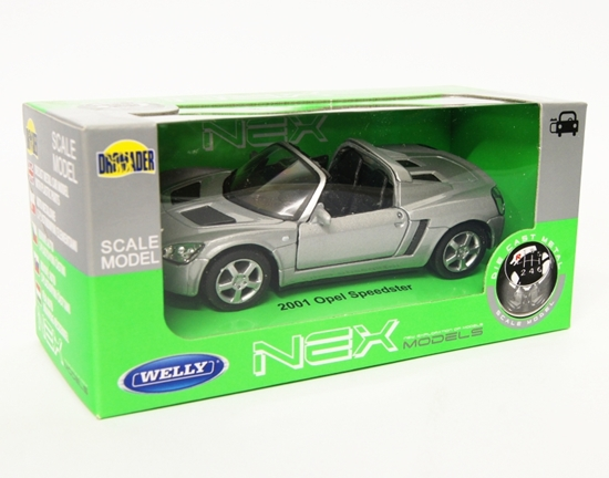 Welly 1:34 Opel 2001 Speedster Cabrio - srebrny