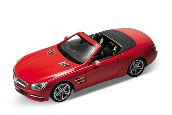 Welly 1:34 Mercedes-Benz SL500 2012 (cabrio) -czerwony