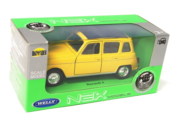 Welly 1:34 Renault 4 - żółty
