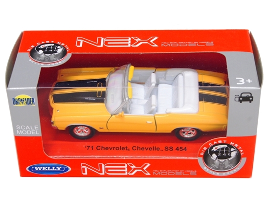 Welly 1:34 Chevrolet Chevelle '71 -żółty