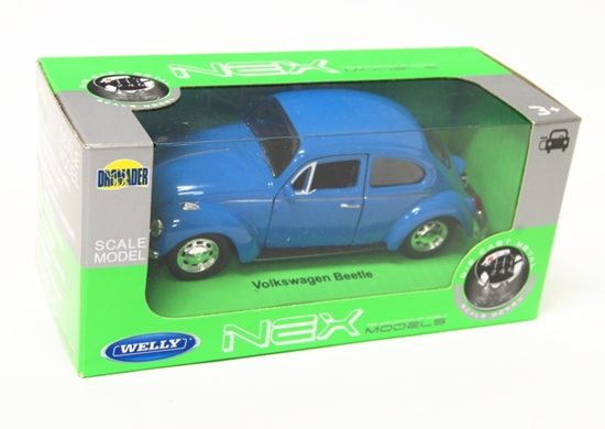 Welly 1:34 Volkswagen Beetle - niebieski