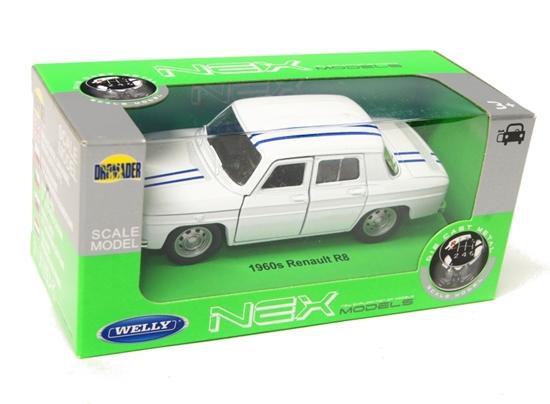Welly 1:34 Renault R8 1960s - biały