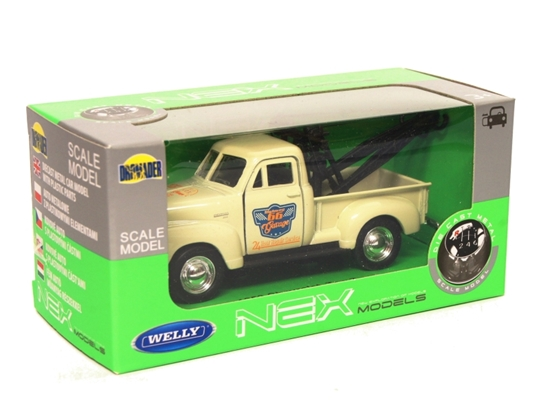 Welly 1:34 Chevrolet Tow Truck 1953 - kremowy