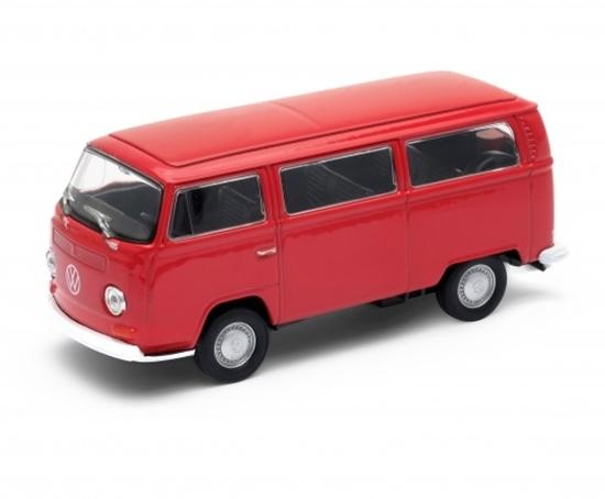 WELLY 1:34 VW Volkswagen T2 BUS '72 czerwony