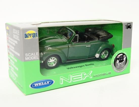Welly 1:34 Volkswagen Beetle cabrio - zielony