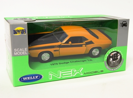 Welly 1:34 Dodge 1970 Challenger T/A - musztardowy