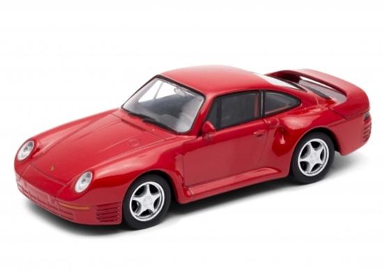 Welly 1:34 Porsche 959 - czerwony