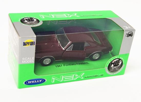 Welly 1:34 Pontiac Firebird 1967 - bordowy