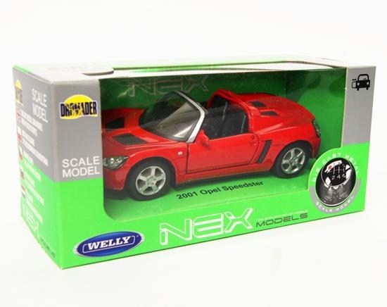 Welly 1:34 Opel 2001 Speedster Cabrio - czerwony