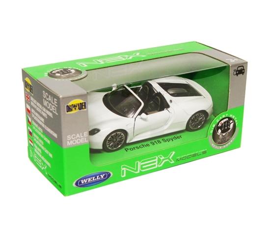 Welly 1:34 Porsche 918 Spyder cabrio -biały