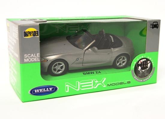 WELLY 1:34 BMW Z4 Cabrio - srebrny