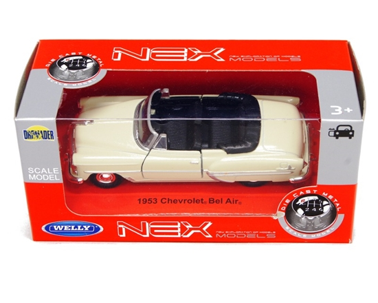 Welly 1:34 Chevrolet BEL AIR 1953 -kremowy