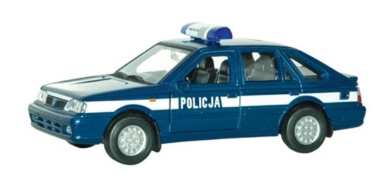 WELLY 1:39 POLONEZ CARO POLICJA-granatowy z białym pasem