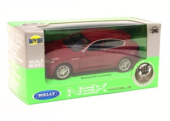 Welly 1:34 Maserati Levante - bordowy