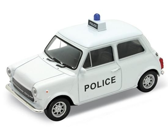 WELLY 1:34 Mini Cooper 1300 - POLICE -biały