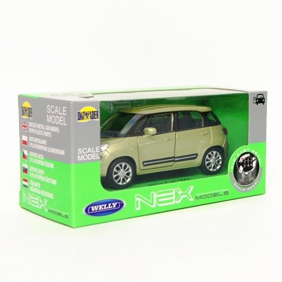 Welly 1:34 Fiat 500L 2013 - oliwkowy metalik