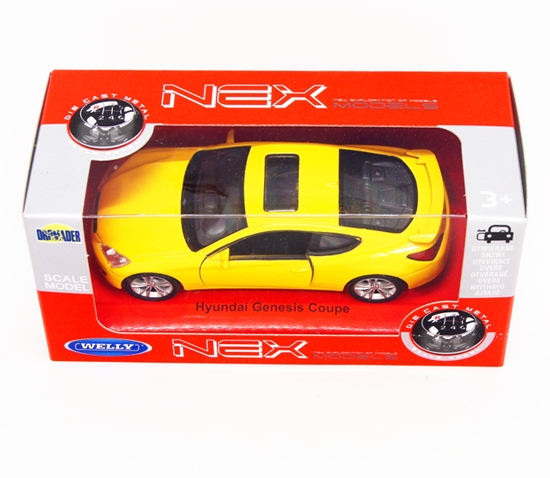 Welly 1:34 Hyundai Genesis Coupe - żółty