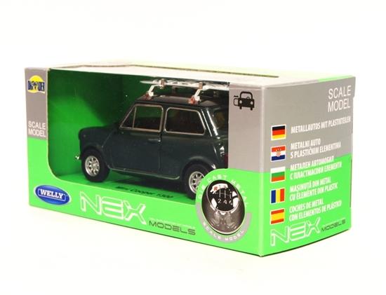 Welly 1:34 Mini Cooper 1300 z deską surfingową -c.zielon