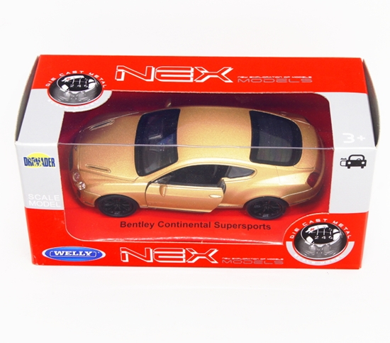 Welly 1:34 Bentley Continental Supersports - złoty