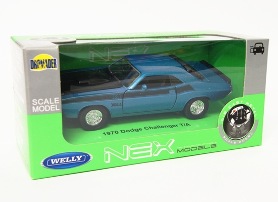 Welly 1:34 Dodge 1970 Challenger T/A - niebieski