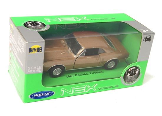 Welly 1:34 Pontiac Firebird 1967 - złoty