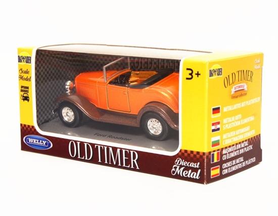 Welly 1:34 Ford Roadster cabrio - pomarańczowy
