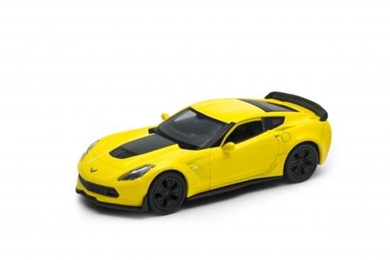 WELLY 1:34 Chevrolet Corvette Z06 2017 -żółty