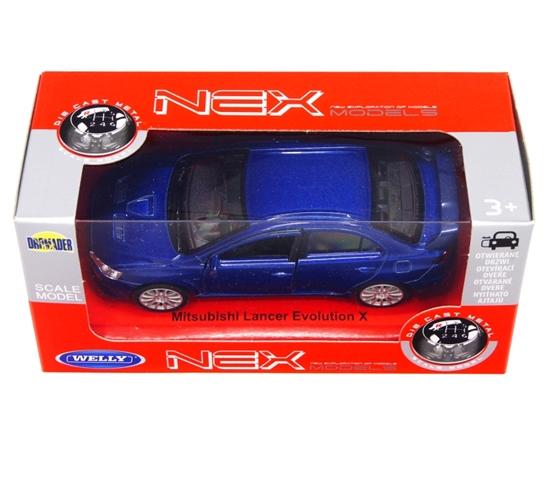 WELLY 1:34 Mitsubishi Lancer evolution niebieski