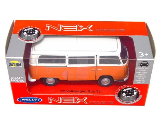 WELLY 1:34 VW Volkswagen BUS T2'72 pomarańczowy z białym