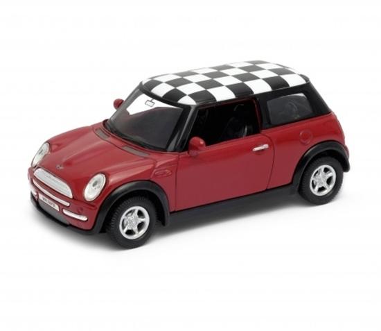 WELLY 1:34 Mini Cooper -szachownica czerwony