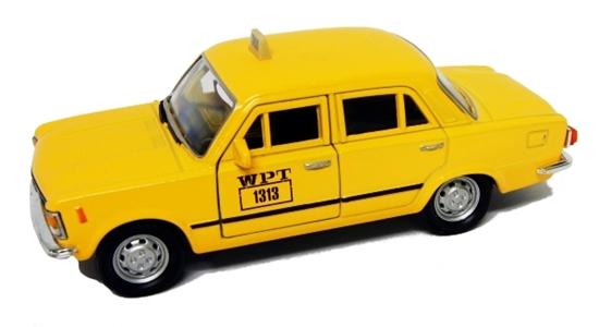 WELLY 1:39 FIAT 125P TAXI - ciemno żółty