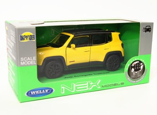 Welly 1:34 Jeep Renegade Trailhawk -żółty