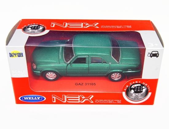 WELLY 1:34 GAZ 31105 Wołga - zielony