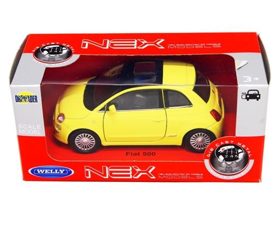 Welly 1:34 Fiat 500 2007 -zółty