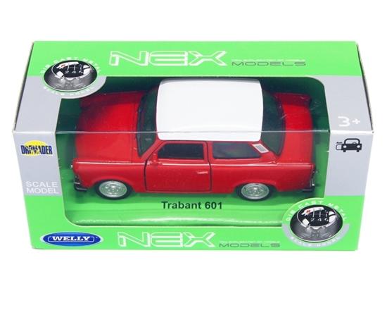 WELLY 1:39 Trabant 601 -czerwony z białym dachem