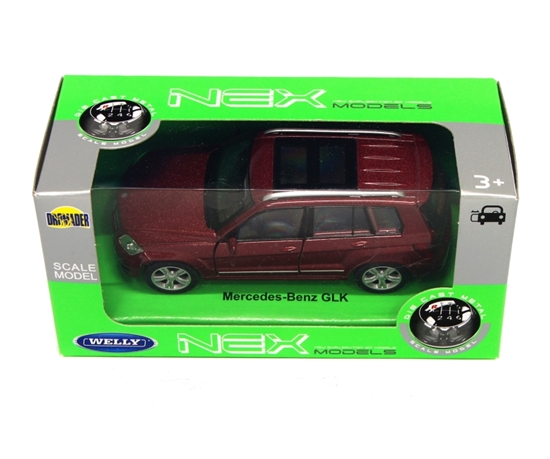 Welly 1:34 Mercedes-Benz GLK - bordowy