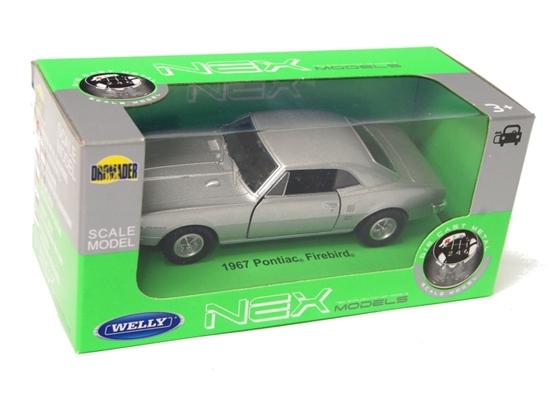 Welly 1:34 Pontiac Firebird 1967 - srebrny