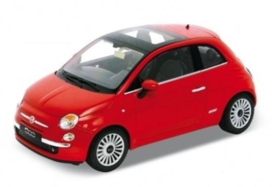 Welly 1:34 Fiat 500 2007 -czerwony