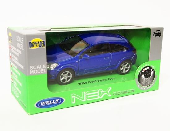 Welly 1:34 Opel 2005 Astra GTC - niebieski