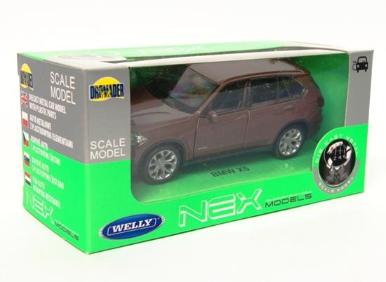 Welly 1:34 BMW X5 - śliwkowy