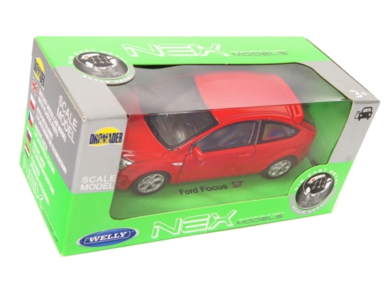 Welly 1:39 Ford Focus -czerwony