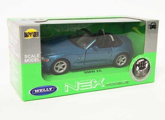 WELLY 1:34 BMW Z4 Cabrio- niebieski