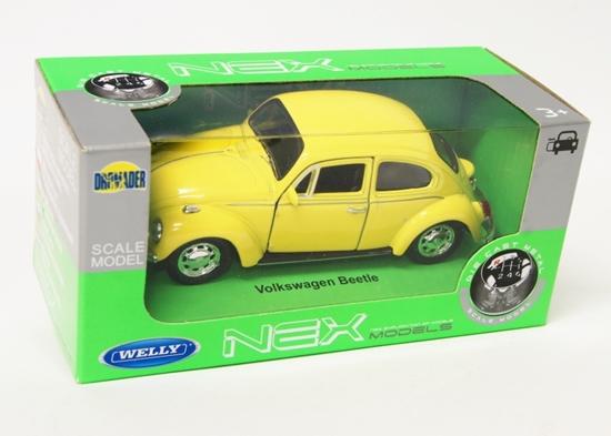 Welly 1:34 Volkswagen Beetle - żółty